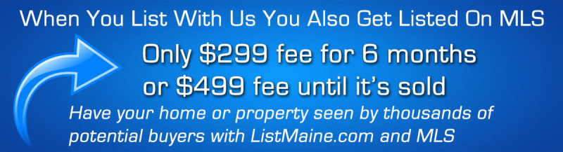 Flat Fee Listing Maine | Homes for sale in Maine | List your